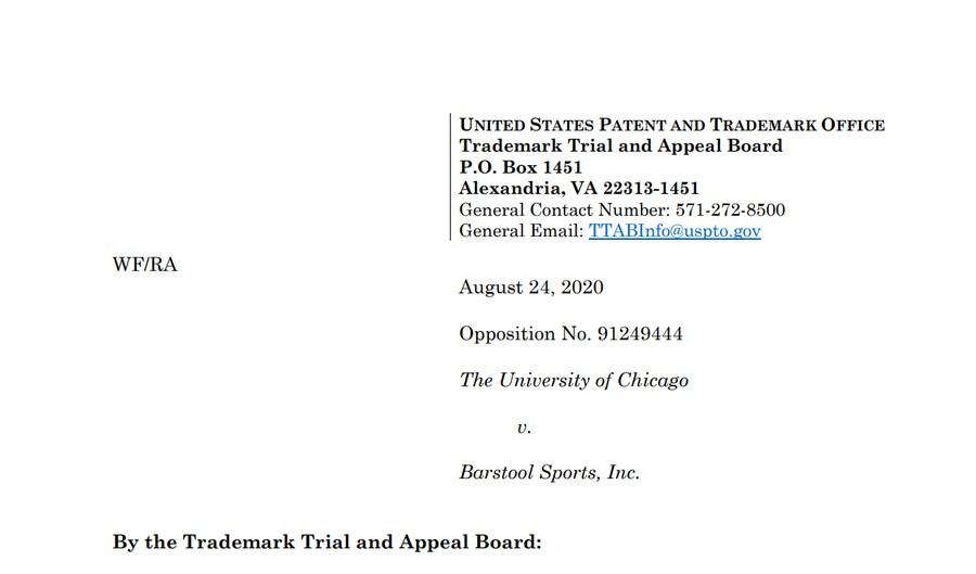 The University of Chicago v. Barstool Sports