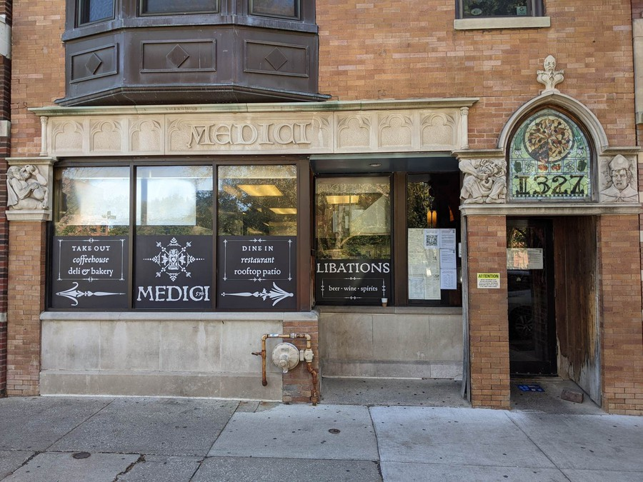 The Medici on 57th, operating a restaurant, bakery, and deli, is a Hyde Park mainstay.