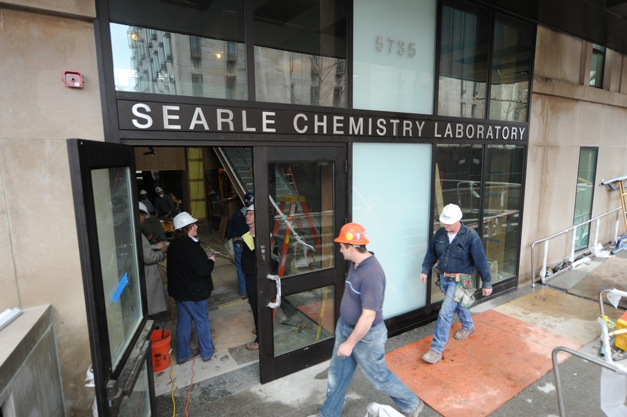 Searle Chemistry Lab under construction in 2009.