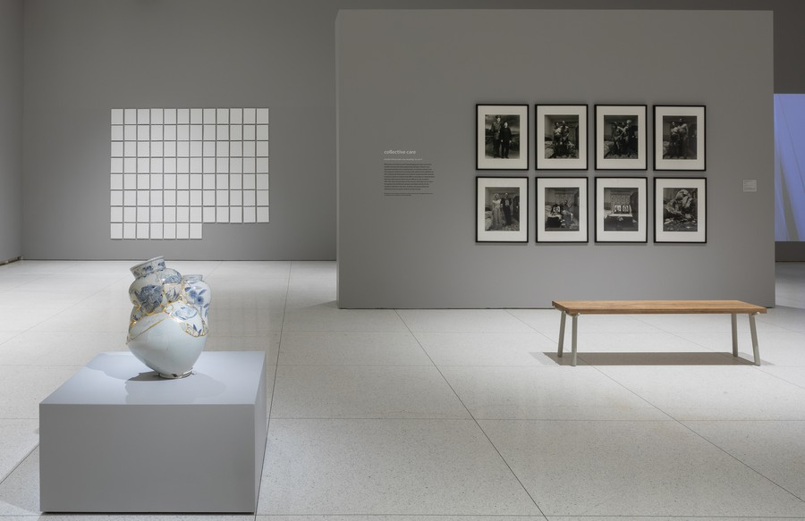 Installation view, Take Care, 2020, Smart Museum of Art. Photo by Michael Tropea.