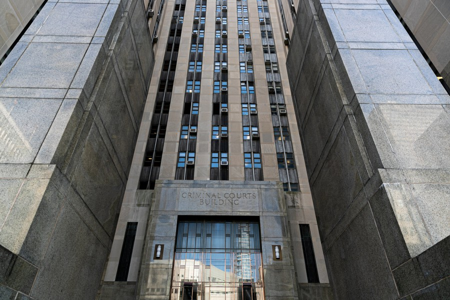 New York City's Criminal Court Building. Courtesy of Jeenah Moon of Reuters.