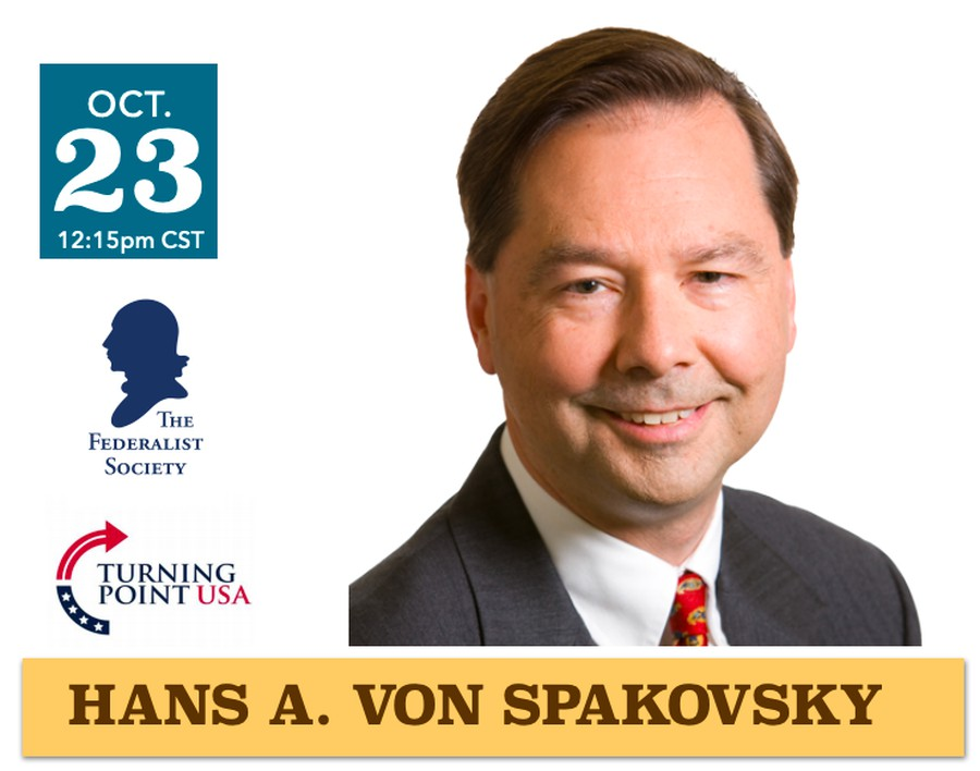 Hans Von Spakovsky spoke at a virtual University of Chicago Law School event on October 23rd.