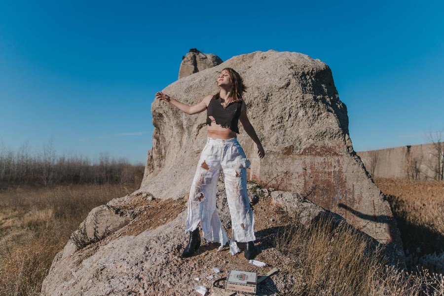 Georgianna James poses for MODA Magazine's newly released and notably reimagined online edition.