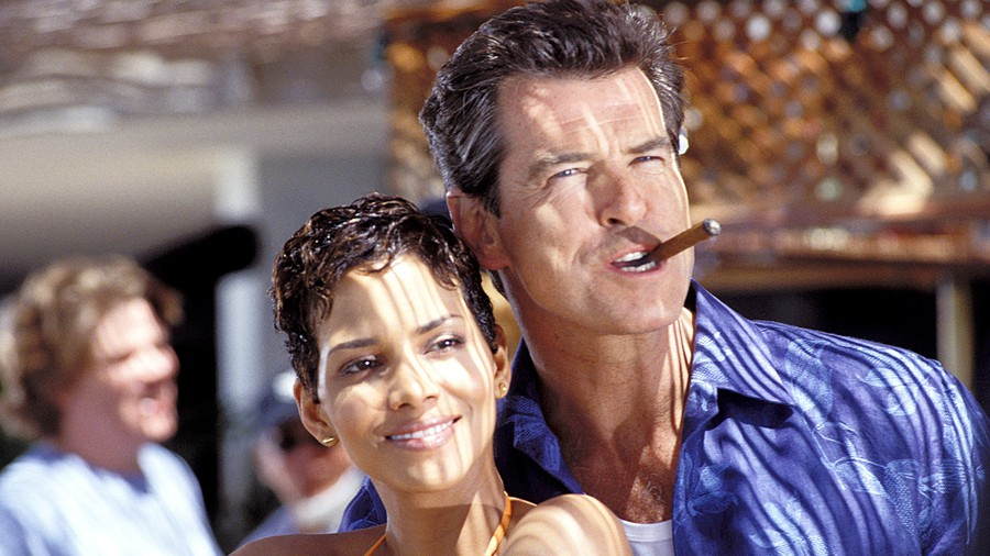 Halle Berry and Pierce Brosnan in Die Another Day, which I'm calling a rom-com because I can.