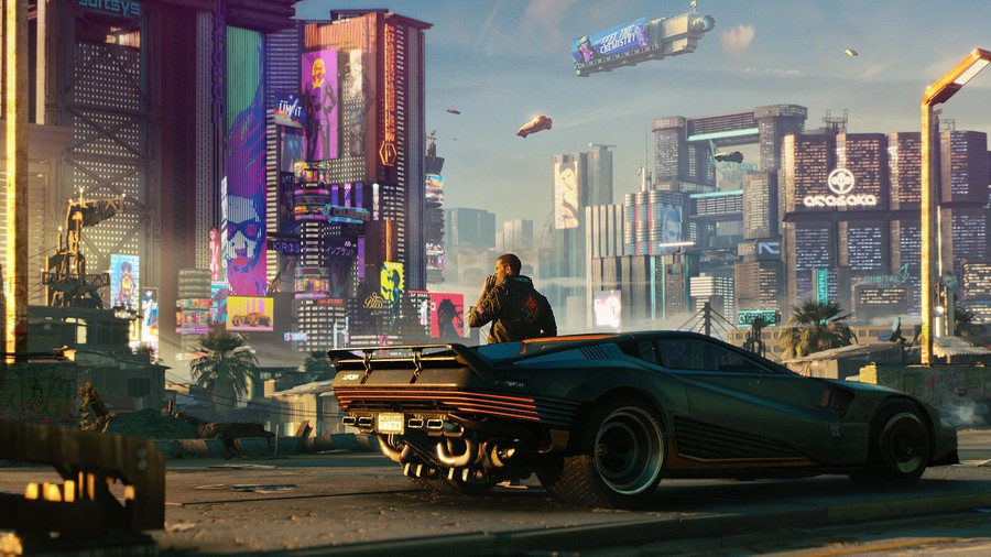 Cyberpunk 2077 falls short of its lofty expectations, stumbling over various bugs and blemishes.