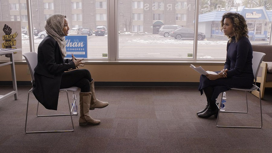 Alexi McCammond interviews Rep. Ilhan Omar (D-Minn.) about police brutality for Axios on HBO.