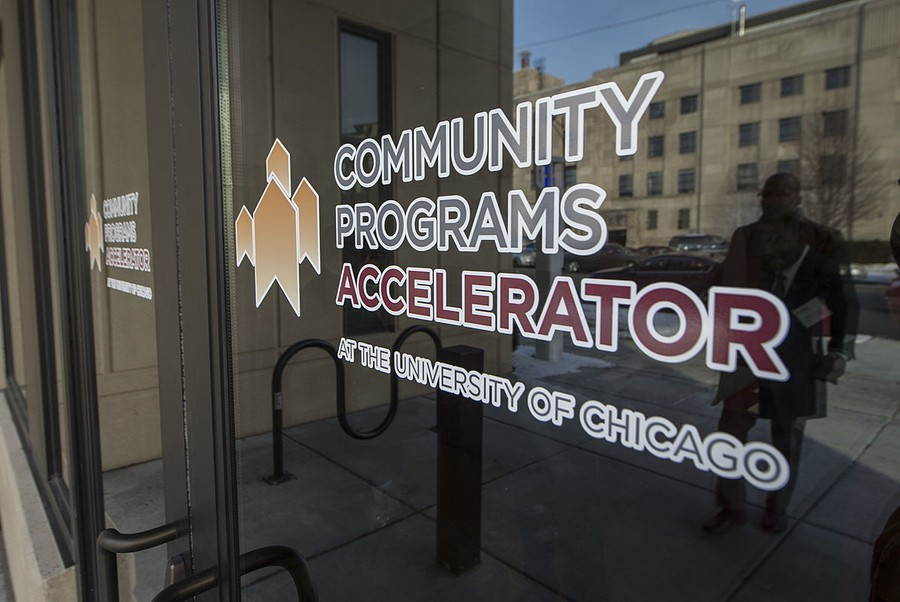 The University's Community Programs Accelerator is a joint initiative between the Office of Civic Engagement and the Crown Family School of Social Work, Policy, and Practice.