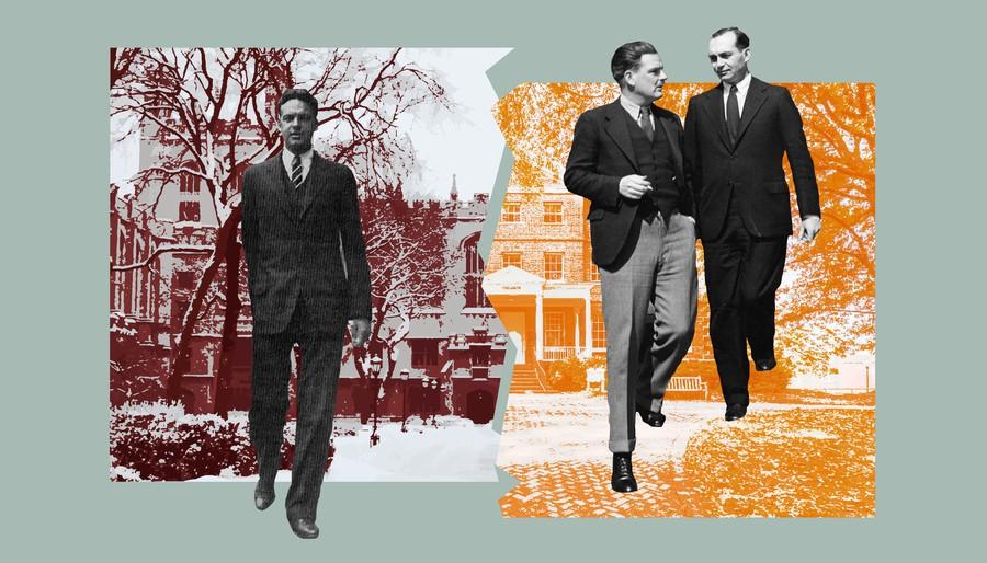 Pictured left to right: Robert Maynard Hutchins, Stringfellow Barr, Scott Buchanan.
