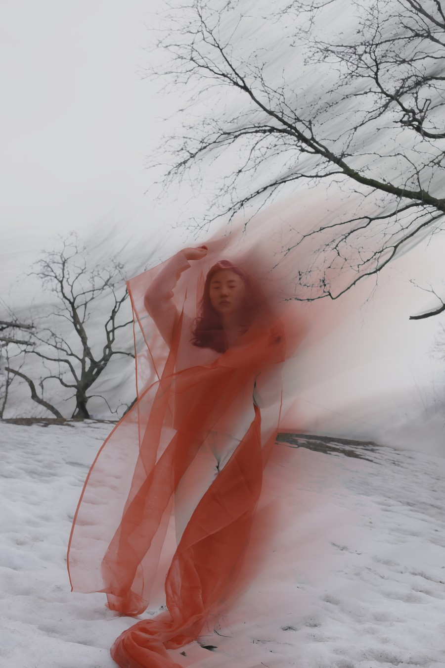 Nari Ok, photographed here by Kayla Luu, as part of MODA's Winter 2021 Magazine.