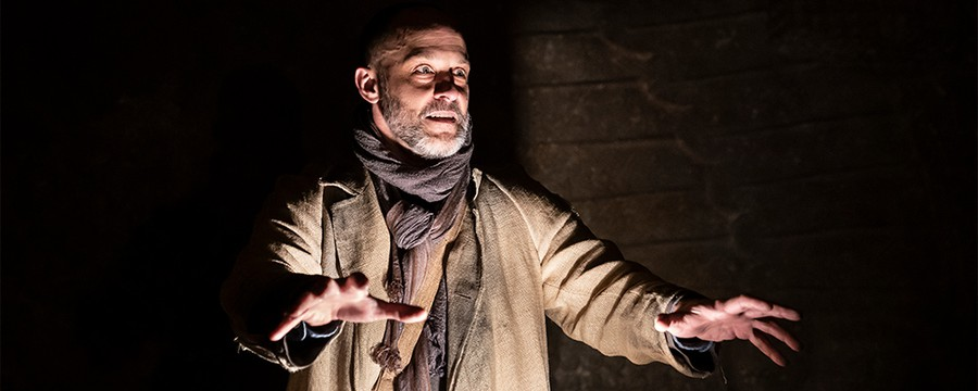 """Timothy Edward Kane in Court Theatre's staging of """"An Iliad."""""""