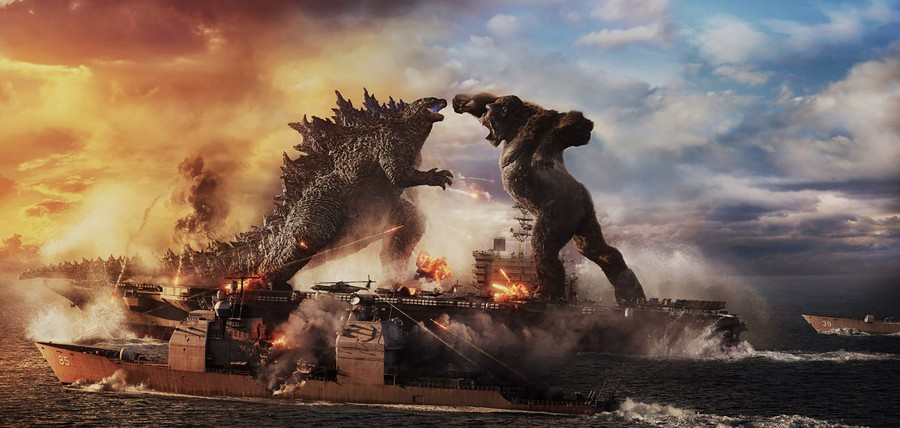 """""""Godzilla Vs. Kong"""" delivers all the epic monster matchup you could desire. And nothing else."""
