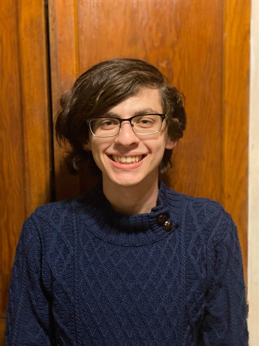 """Graduating third year Devin Haas, reflecting on his journey writing """"It's Curtains."""""""