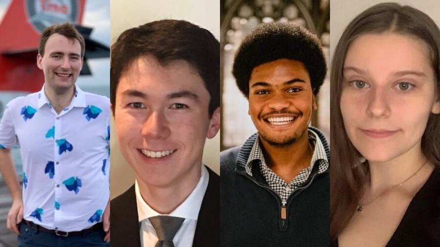 Allen Abbott ('22), Connor Lee ('24), Tyler Okeke ('23), and Summer Long ('23).