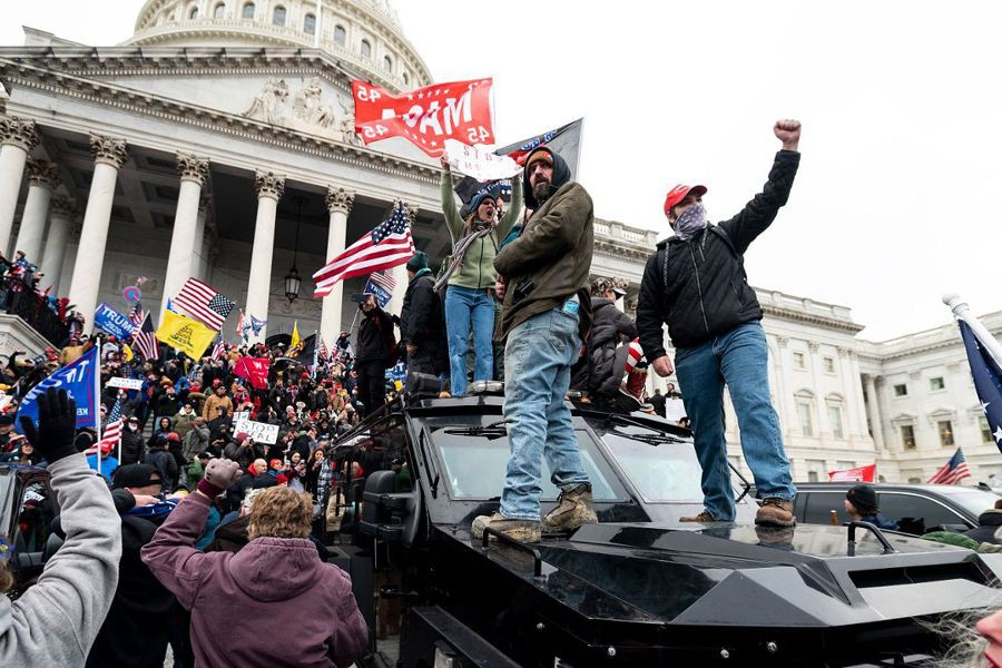 On January 6, 2021, supporters of former president Donald Trump initiated violent acts inside the Capitol building.