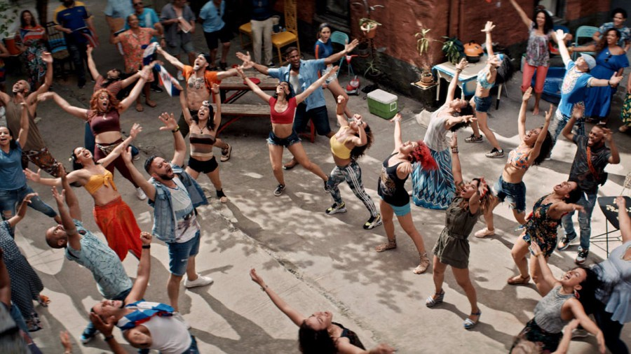 """The cast of """"In the Heights"""" celebrate the community of Washington Heights in """"Carnaval Del Barrio""""."""