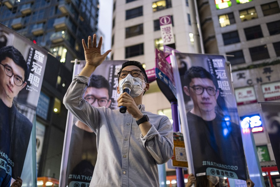 Nathan Law is a pro-democracy Hong Kong activist who is currently in London under political asylum.