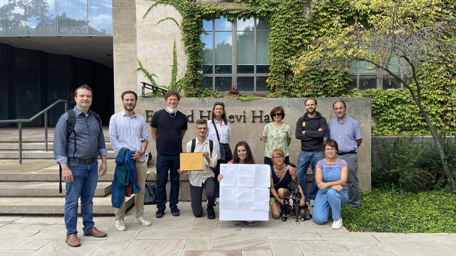 Faculty Forward members at UChicago delivered a petition to the university's president demanding equal pay for equal work and parental leave for part-timers.