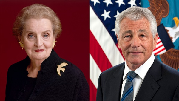 Secretaries Hagel and Albright Discuss Principled Foreign Policy in the Inaugural Hagel Lecture